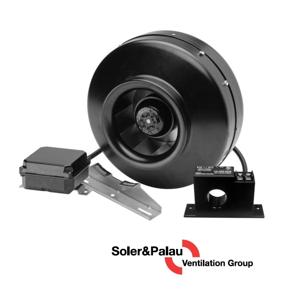 S&P Soler & Palau Ventilation Fans - Dryer Boosting - Dryer Booster Kit DBF-100xc and High Current Sensor