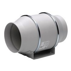 "S&P Soler & Palau Ventilation Fans - TD-150 6"" Duct Inline Mixed Flow Duct Ventilation Fan - H 293 cfm L 218 cfm"