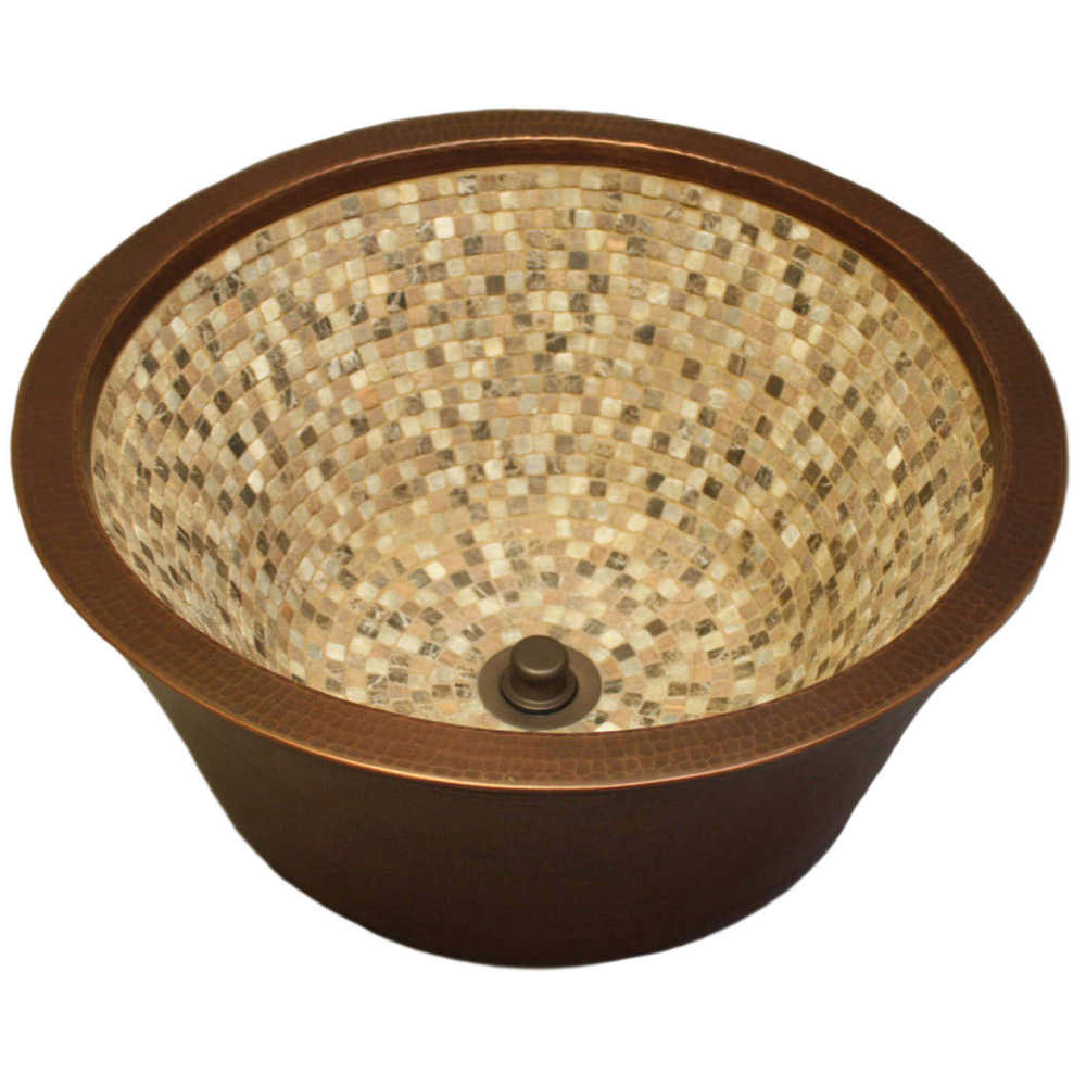 Merveilleux Linkasink Bathroom Sinks   Mosaic   V006 Double Walled Copper Mosaic Vessel  Sink